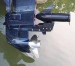 Trolling motors for pontoon boats